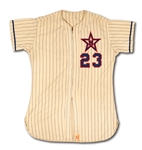 1957 CLYDE KING HOLLYWOOD STARS (PCL) GAME WORN #23 HOME MANAGERS JERSEY (EX-DOBBINS COLLECTION)