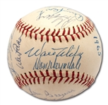 HIGH-GRADE 1965 LOS ANGELES DODGERS WORLD CHAMPIONS TEAM SIGNED ONL (GILES) BASEBALL