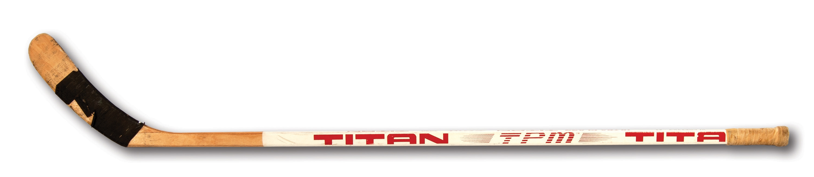 1982-83 WAYNE GRETZKY SIGNED & INSCRIBED EDMONTON OILERS GAME USED TITAN STICK (CANUCKS EMPLOYEE PROVENANCE)