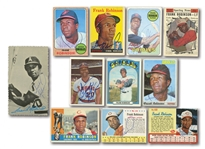 FRANK ROBINSON LOT OF (12) AUTOGRAPHED BASEBALL CARDS INCL. 1957 TOPPS #35 ROOKIE (BECKETT AUTH.)