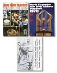 1968 N.Y. YANKEES YEARBOOK AND OLD TIMERS DAY PROGRAM EACH SIGNED BY MICKEY MANTLE PLUS 1978 YEARBOOK SIGNED BY BILLY MARTIN