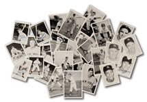 1956, 1957 AND 1961 NEW YORK YANKEES PHOTO PACK COLLECTION OF (28) WITH TWO SIGNED BY MICKEY MANTLE