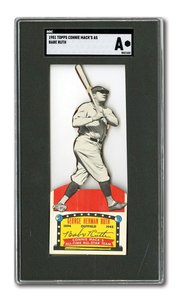 1951 CONNIE MACKS ALL-STARS GEORGE H. RUTH - SGC AUTHENTIC