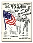 "MAY 25, 1965 MUHAMMAD ALI VS. SONNY LISTON II (""PHANTOM PUNCH"") ON-SITE FIGHT PROGRAM (RARE)"
