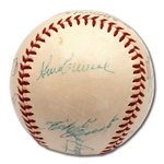 1960 PITTSBURGH PIRATES WORLD CHAMPIONS TEAM SIGNED ONL (GILES) BASEBALL W/ CLEMENTE FROM BILL MAZEROSKI COLLECTION