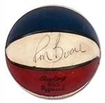 C. 1969-72 RON BOONE AUTOGRAPHED OFFICIAL RAWLINGS ABA (DOLPH) GAME USED BASKETBALL (BOONE LOA)