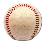 1963 LOS ANGELES DODGERS WORLD CHAMPIONS TEAM SIGNED BASEBALL (27 AUTOS.)