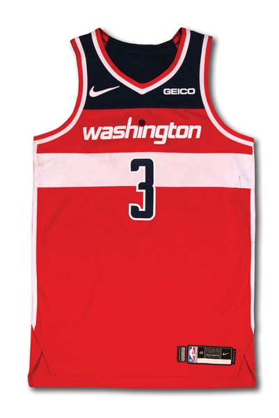 3/15/2019 BRADLEY BEAL WASHINGTON WIZARDS GAME WORN JERSEY PHOTO-MATCHED TO 40 PTS., 5 REB. & 5 AST. (RESOLUTION LOA)