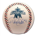 "DEREK JETER SINGLE SIGNED AND ""#2"" INSCRIBED OFFICIAL 2010 MLB ALL-STAR GAME BASEBALL (PRISTINE CONDITION)"