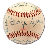 1961 PITTSBURGH PIRATES TEAM SIGNED ONL (GILES) BASEBALL WITH GEORGE SISLER ON SWEET SPOT