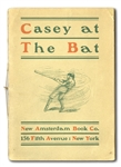 "EXTREMELY RARE 1901 ""CASEY AT THE BAT"" BY ERNEST THAYER SOFTCOVER FIRST EDITION (1 OF 3 KNOWN)"
