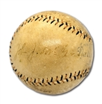 1920S JOHN McGRAW SINGLE SIGNED ONL (HEYDLER) BASEBALL WITH OUTSTANDING PROVENANCE