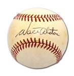 VINTAGE WALTER ALSTON SINGLE SIGNED OAL (CRONIN) BASEBALL - TOUGH SINGLE