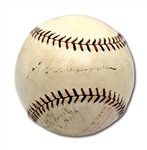 1928 GROVER CLEVELAND ALEXANDER SIGNED ONL (HEYDLER) BASEBALL PROCURED DURING WORLD SERIES - DISPLAYS AS SINGLE