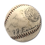 1925 ST. LOUIS CARDINALS TEAM SIGNED ONL (HEYDLER) BASEBALL INCL. HORNSBY FROM HIS TRIPLE CROWN SEASON