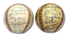 PAIR OF 1961 SAN FRANCISCO GIANTS AND 1959 CINCINNATI REDS TEAM SIGNED ONL (GILES) BASEBALLS