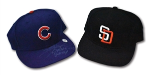 "1992 GARY SHEFFIELD SIGNED S.D. PADRES GAME USED CAP (""ALL-STAR GAME"" INSCRIBED) AND 2004 SAMMY SOSA SIGNED CHICAGO CUBS GAME USED CAP"