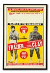 "MUHAMMAD ALI AUTOGRAPHED MARCH 8, 1971 ""FIGHT OF THE CENTURY"" VS. FRAZIER CLOSED-CIRCUIT FIGHT POSTER"