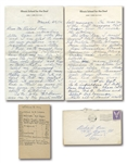 "1945 ""DUMMY"" HOY AND ""DUMMY"" TAYLOR SIGNED HANDWRITTEN LETTERS WITH FASCINATING BASEBALL CONTENT - TWO GREATEST DEAF PLAYERS IN HISTORY!"