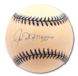 JOE DiMAGGIO SINGLE SIGNED OAL (BUDIG) COMMEMORATIVE JOE DiMAGGIO DAY BASEBALL