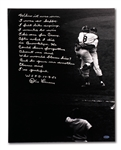 "DON LARSEN HANDWRITTEN & SIGNED 10/8/1956 WORLD SERIES PERFECT GAME ""STORY"" ON 16x20 PHOTO (STEINER COA)"