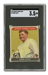 1933 SPORT KINGS #2 BABE RUTH SGC VG+ 3.5