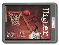 "C. 1996 KOBE BRYANT SIGNED AND ""#33"" INSCRIBED LOWER MERION H.S. 8x11 MAGAZINE PHOTO (PSA/DNA GEM MINT 10 AUTO.)"