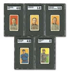 1909-11 T206 WHITE BORDER SWEET CAPORAL LOT OF (78) INCL. 11 DIFFERENT HALL OF FAMERS