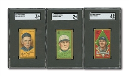 1911 T205 GOLD BORDER TOBACCO LOT OF (12) INCL. CY YOUNG SGC VG-EX 4