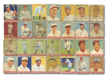 1933 GOUDEY STARTER SET (71/239) INCL. JIMMY FOXX #29 (SGC GD 30) AND FOUR SIGNED COMMONS PLUS 20 DUPLICATES (FRED FRANKHOUSE COLLECTION)