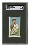 1909-11 T206 WHITE BORDER CHRISTY MATHEWSON (WHITE CAP) SGC VG 3