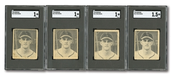 LOT OF (4) 1948 BOWMAN STAN MUSIAL #36 ROOKIE CARDS - ALL SGC GRADED