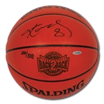 "2000-01 KOBE BRYANT SIGNED AND ""8"" INSCRIBED LIMITED EDITION SPALDING ""BACK-TO-BACK"" BASKETBALL (UDA)"