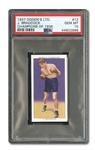 "1937 OGDENS LTD. (CHAMPIONS OF 1936) #12 JAMES J. BRADDOCK ""CINDERELLA MAN"" - PSA GEM MINT 10 (POP 1)"