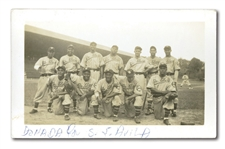 1938-39 JOSH GIBSON LEOPARDOS DE SANTA CLARA (CUBAN WINTER LEAGUE) ORIGINAL SNAPSHOT PHOTO (PSA/DNA TYPE I)