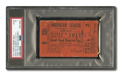 1917 WORLD SERIES (CHICAGO WHITE SOX VS. N.Y. GIANTS) GAME 5 TICKET STUB - PSA PR 1 (ONE GRADED HIGHER)