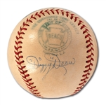 C. 1943-47 DIZZY DEAN SINGLE SIGNED OAL (HARRIDGE) BASEBALL