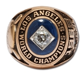 WALTER ALSTONS 1965 LOS ANGELES DODGERS WORLD SERIES CHAMPIONS 14K GOLD RING (ALSTON FAMILY LOA)