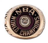 CLINT RICHARDSONS 1983 PHILADELPHIA 76ERS NBA WORLD CHAMPIONS 14K GOLD RING (RICHARDSON LOA)