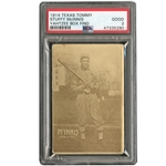 1914 TEXAS TOMMY E224 STUFFY McINNIS (TYPE 1) PSA GD 2 - ONLY KNOWN EXAMPLE! (YAHTZEE BOX FIND)