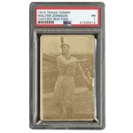 "1914 TEXAS TOMMY E224 WALTER JOHNSON (TYPE 1) PSA PR 1 - THE RAREST ""BIG TRAIN"" IN THE HOBBY! (YAHTZEE BOX FIND)"