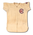 1951 HAL JEFFCOAT CHICAGO CUBS GAME WORN HOME JERSEY WITH TEAMS 75TH ANNIVERSARY PATCH (MEARS)