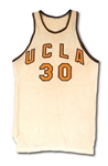 1957-58 DENNY CRUM UCLA BRUINS GAME WORN HOME JERSEY - ONLY ONE KNOWN FROM HIS PLAYING CAREER (MEARS 9.5)