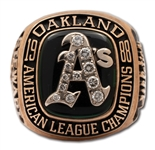 DAVE STEWARTS 1988 OAKLAND ATHLETICS AMERICAN LEAGUE CHAMPIONS 10K GOLD RING (STEWART COLLECTION)