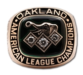 DAVE STEWARTS 1990 OAKLAND ATHLETICS AMERICAN LEAGUE CHAMPIONS 10K GOLD RING - ALCS MVP! (STEWART COLLECTION)