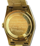 DAVE STEWARTS ROLEX PRESIDENT 18K GOLD WATCH AWARDED FOR HIS 6/29/1990 NO-HITTER AS MEMBER OF OAKLAND AS (STEWART COLLECTION)