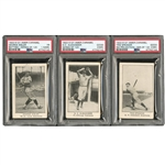 1922 AMERICAN CARAMEL E121 (SERIES OF 120) STARTER SET OF (33) WITH PSA GRADED SPEAKER, ALEXANDER & SISLER (YAHTZEE BOX FIND)