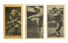1927 YORK CARAMEL E210 (TYPE 1) #16 EPPA RIXEY PLUS 1923 W572 (HANDCUT) BILLY SOUTHWORTH & MARTY McMANUS (YAHTZEE BOX FIND)
