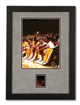 1984 MAGIC JOHNSON ON LAKERS BENCH GICLEE PHOTO WITH ORIGINAL 1-OF-1 NEGATIVE FILM STRIP FROM STEVE ROSEBOROS CAMERA (TypeZero COA)