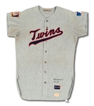 "1969 HARMON KILLEBREW MINNESOTA TWINS GAME WORN ROAD JERSEY FROM HIS ONLY MVP SEASON! (SGC ""VERY GOOD - EXCELLENT"")"